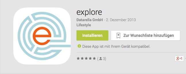 explore App im Feldtest