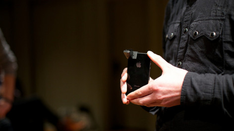 iSpex device on a smartphone. Image by Sebastiaan ter Burg , published under licence CC BY 2.0
