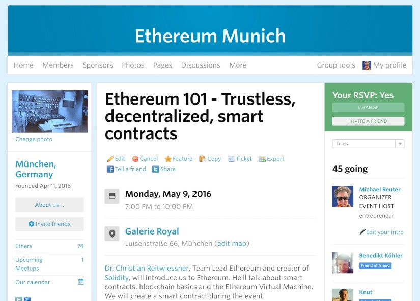 Let's discuss all things Ethereum at our Ethereum Munich Meetup
