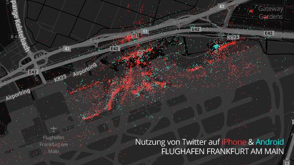 Daten kartographiert: iPhone dominiert deutsche Großstädte