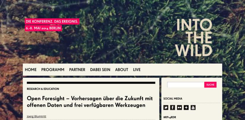 Open Foresight auf der re:publica 2014